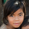 Portrait of brown eyed girl, Siem Reap, Cambodia