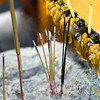 Close-up of incense sticks burning at temple, Krong Siem Reap, Siem Reap, Cambodia
