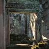 Ruins of temple, Bayon Temple, Angkor Thom, Siem Reap, Cambodia