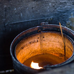 Close-up of incense sticks burning at temple, Krong Siem Reap, Siem Reap, Cambodia