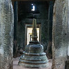 Stupa in temple, Bayon Temple, Angkor Thom, Siem Reap, Cambodia