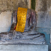 Religious stole on statue in temple, Krong Siem Reap, Siem Reap, Cambodia
