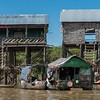 Stilt houses on Tonle Sap lake, Kampong Phluk, Siem Reap, Cambodia
