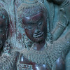Close-up of statue carved in temple, Krong Siem Reap, Siem Reap, Cambodia