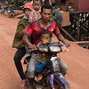Family on moped, Siem Reap, Cambodia