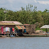 Stilt house on Tonle Sap lake, Kampong Phluk, Siem Reap, Cambodia