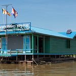 Primary school on Tonle Sap lake, Kampong Phluk, Siem Reap, Cambodia