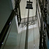 Low angle view of cables of elevator, Krong Siem Reap, Siem Reap, Cambodia