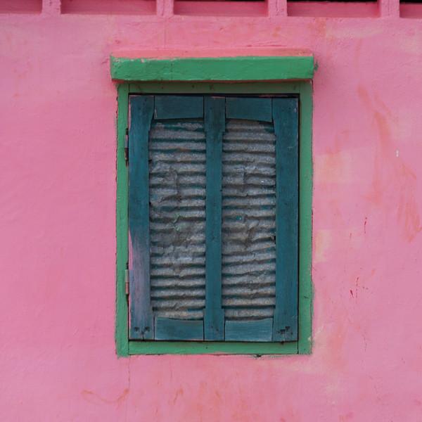 Closed window of temple, Siem Reap, Cambodia