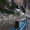Tourboat in river, Pak Ou Caves, Pak Ou District, Luang Prabang, Laos