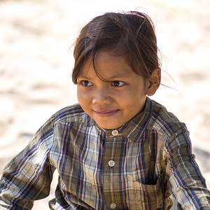 Close-up of local girl smiling, Sainyabuli Province, Laos
