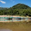 Boats along River Mekong, Luang Prabang, Laos