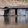 Houseboat along the shore of River Mekong, Sainyabuli Province, Laos