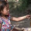 Little girl selling wrist bands, Sainyabuli Province, Laos