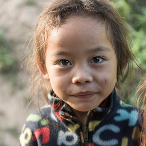 Portrait of local girl, Luang Prabang, Laos