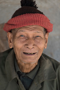 Portrait of senior man smiling, Laos