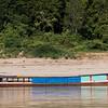 Boat in River Mekong, Sainyabuli Province, Laos