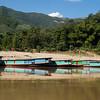 Boats docked along River Mekong, Luang Prabang, Laos
