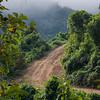 Elevated view of dirt road, Luang Prabang, Laos