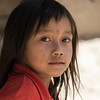 Portrait of local adolescent girl, Sainyabuli Province, Laos