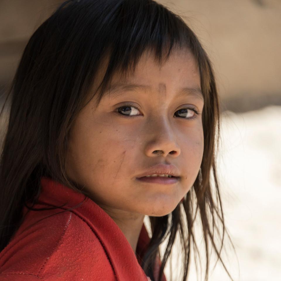 Portrait of local adolescent girl, Sainyabuli Province, Laos