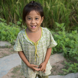 Portrait of local girl smiling, Luang Prabang, Laos