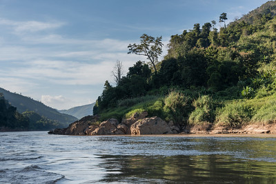 Scenic view of River Mekong, Sainyabuli Province, Laos