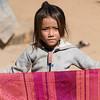 Portrait of local girl holding shawl, Sainyabuli Province, Laos