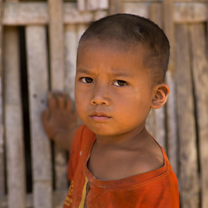 Portrait of local boy, Ban Houy Phalam, Laos