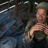 Elderly man in his hut, Ban Gnoyhai, Luang Prabang, Laos