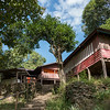 Low angle view of cottages, Sainyabuli Province, Laos