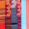 Close-up of shawls for sale, Sainyabuli Province, Laos