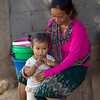 Close-up of toddler girl with her mother, Ban Houy Phalam, Laos