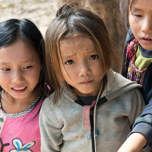 Close-up of children, Sainyabuli Province, Laos