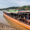 Tourists on tourboat in River Mekong, Laos