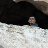 Low angle view of man in Pak Ou Caves, Pak Ou District, Luang Prabang, Laos