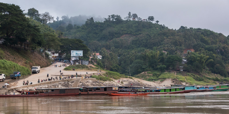 Boats in River Mekong, Oudomxay Province, Laos