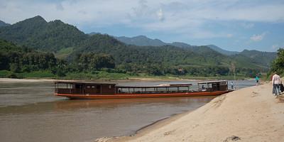 Tourboat in River Mekong, Laos
