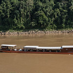 Tourboat in River Mekong, Luang Prabang, Laos