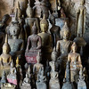 Statues of Buddha in Pak Ou Caves, Pak Ou District, Luang Prabang, Laos