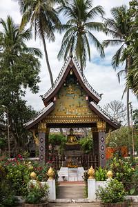 Statue of Buddha at temple, Wat Xieng Thong temple, Luang Prabang, Laos