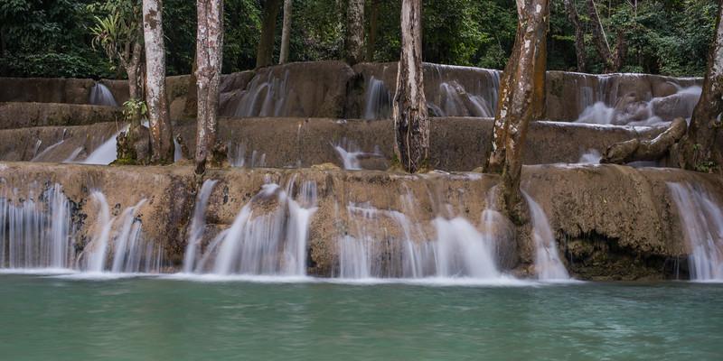 View of waterfall, Tad Sae Waterfall, Luang Prabang, Laos