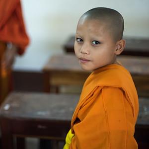 Portrait of boy monk, Luang Prabang, Laos