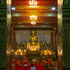 Monks in Wat Nong Sikhounmuang temple, Luang Prabang, Laos