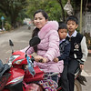 Family on moped, Luang Prabang, Laos