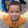 Portrait of boy playing, Luang Prabang, Laos
