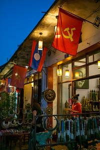 Tourist at souvenir shop, Luang Prabang, Laos