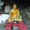 Golden statue in temple, Mount Phousi, Luang Prabang, Laos