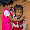 Two girls playing, Chiang Rai, Thailand