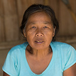 Portrait of elderly woman, Chiang Rai, Thailand